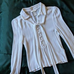 H&M Collared Blouse w/ Ribbon